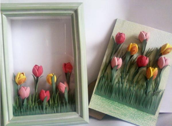 Как сделать картину весны