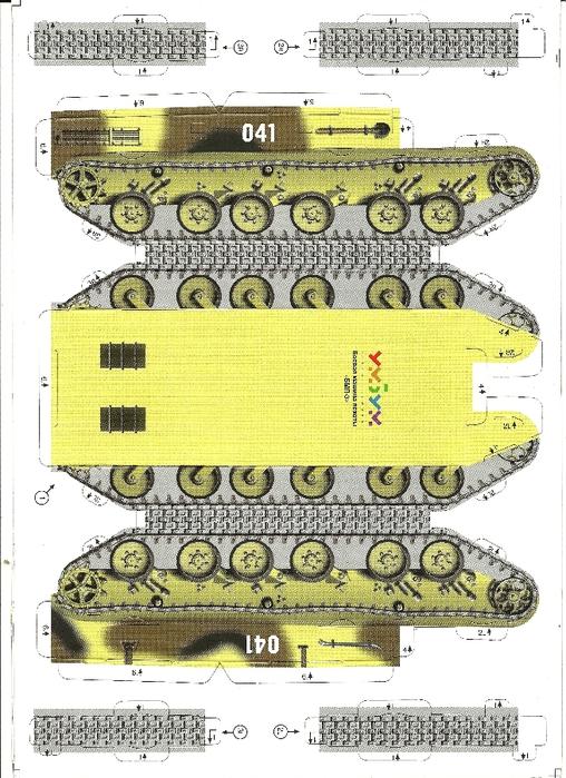 Как сделать модель танка из картона и бумаги