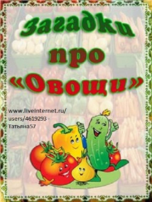 Дети развитие речи загадки про овощи
