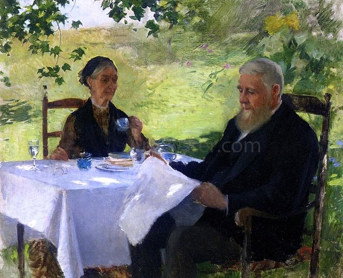 Metcalf, Willard Leroy .tea_on_the_porch (700x567, 378Kb)