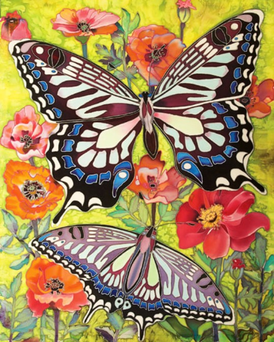 Батик бабочка своими руками