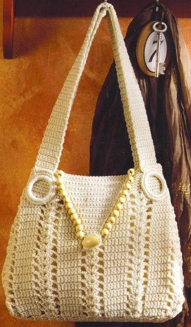 летние вязаные сумки | Вязаные