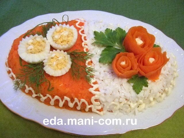 Как оформить салаты на праздничный стол рецепты с