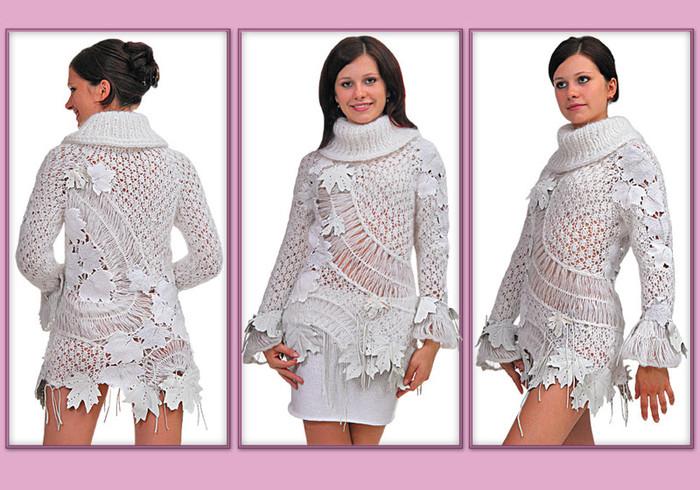Вязание на вилке свитер схемы.