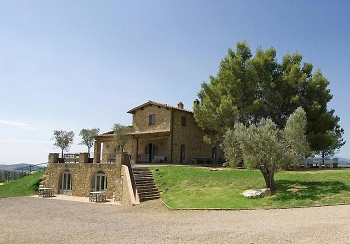 Солнечный тосканский стиль интерьера гостиницы Conti di San Bonifacio 2 (700x488, 88Kb)
