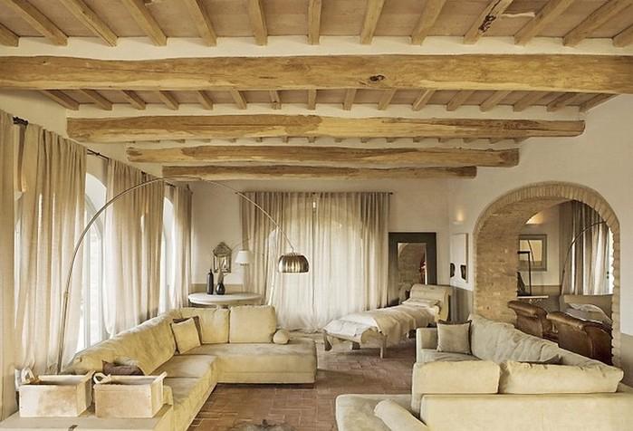 Солнечный тосканский стиль интерьера гостиницы Conti di San Bonifacio 7 (700x476, 92Kb)