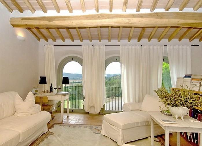 Солнечный тосканский стиль интерьера гостиницы Conti di San Bonifacio 9 (700x504, 87Kb)