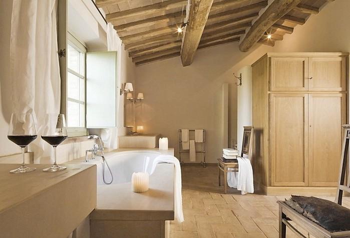 Солнечный тосканский стиль интерьера гостиницы Conti di San Bonifacio 14 (700x476, 76Kb)