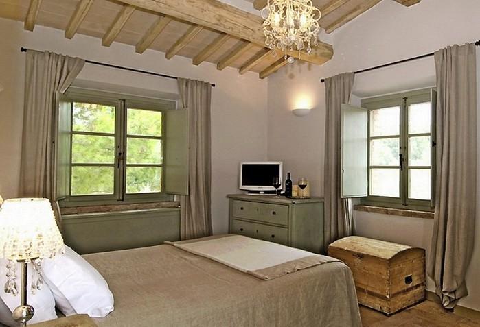 Солнечный тосканский стиль интерьера гостиницы Conti di San Bonifacio 16 (700x477, 86Kb)