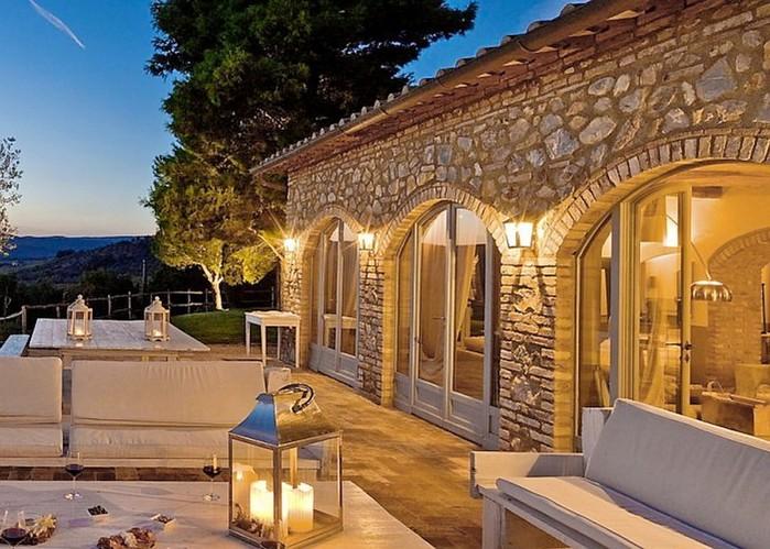 Солнечный тосканский стиль интерьера гостиницы Conti di San Bonifacio 18 (700x499, 124Kb)