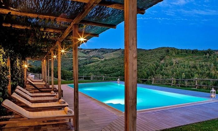 Солнечный тосканский стиль интерьера гостиницы Conti di San Bonifacio 20 (700x421, 109Kb)