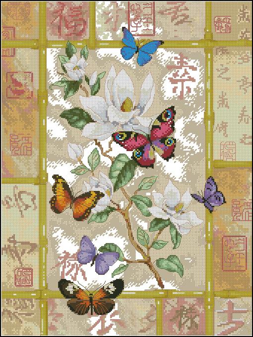 Бриллиантовые бабочки. 5 схем.