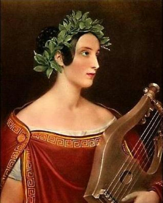 Lady Theresa Spence as Sappho, painted in 1837) - Леди ...