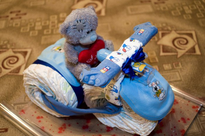 Подарки для новорожденных своими руками из памперсов
