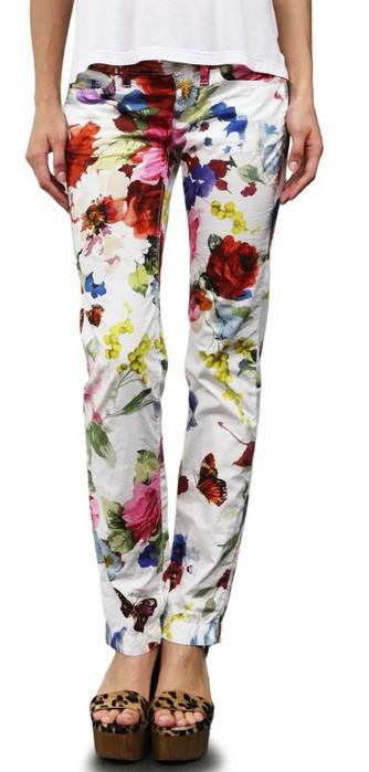 Dolce & Gabbana Print Stretch Cotton Pants (334x700, 51Kb)