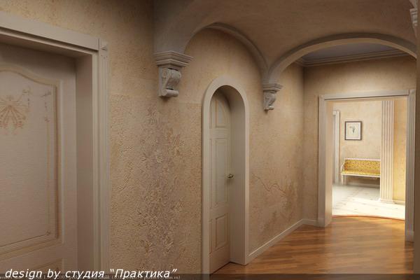 Дизайн коридора арка