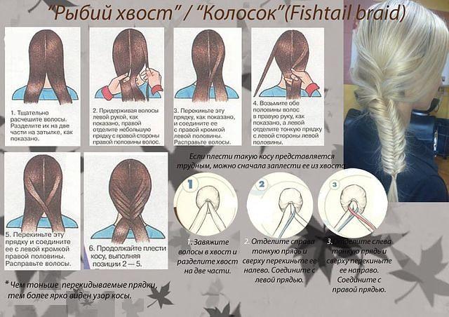 Как связать из волос хвост