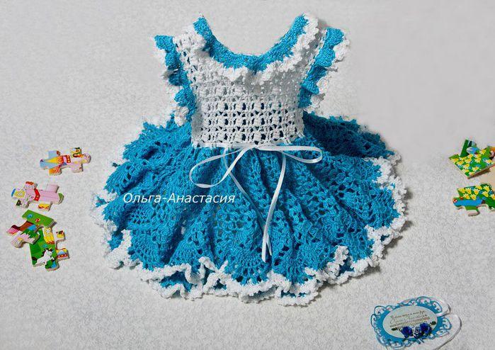 Вязание крючком платьев для маленьких