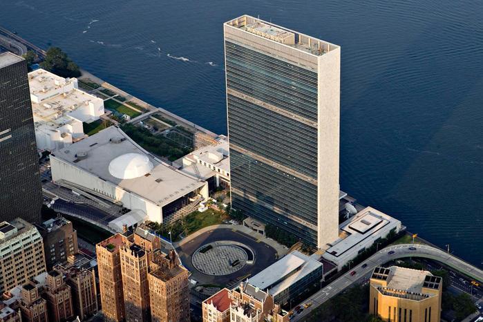 Штаб-квартира ООН у реки Ист Ривер США (700x466, 89Kb)