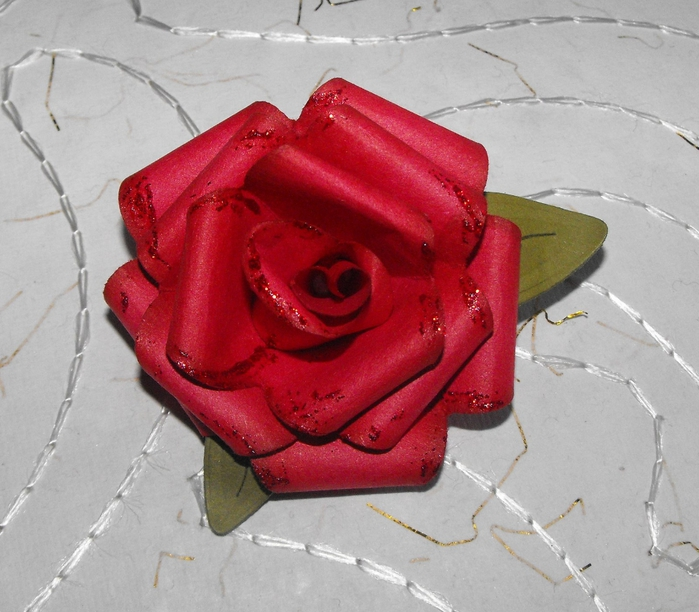 Объемная роза своими руками