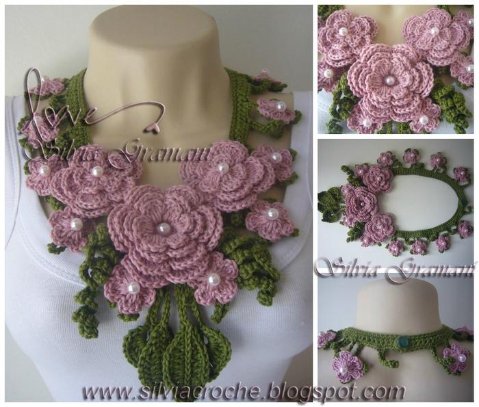 Silvia Gramani colar miss flor rosa e verde comprido I (700x595, 366Kb)