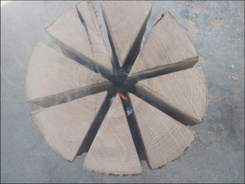 Финская печка из бревна