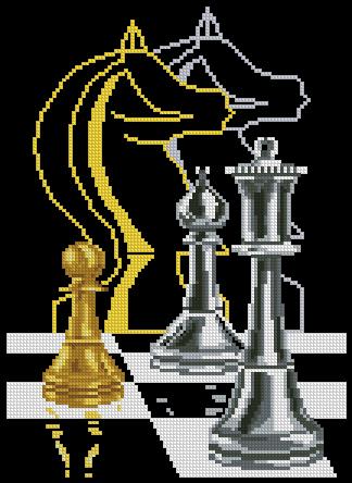 5 схем. Шахматы, доллары, часы