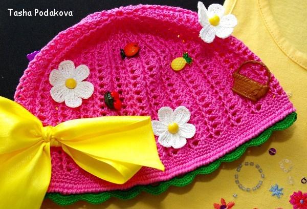 Вязание шапочки для девочки: