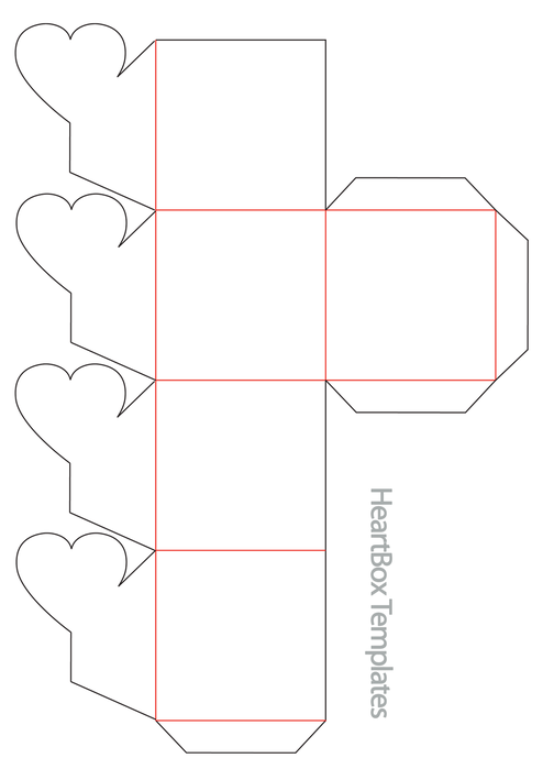 Коробочка из бумаги без клея шаблоны