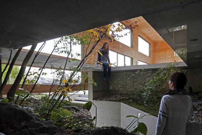 Самые необычные дома - японский дом Nest (Гнездо) 3 (700x466, 98Kb)