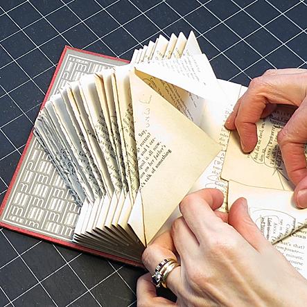 Оригами из книг мастер класс