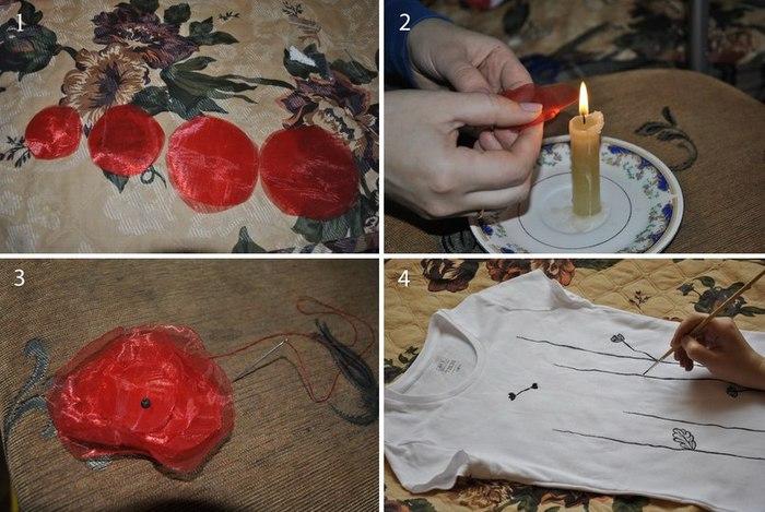 Как украсит футболку своими руками фото