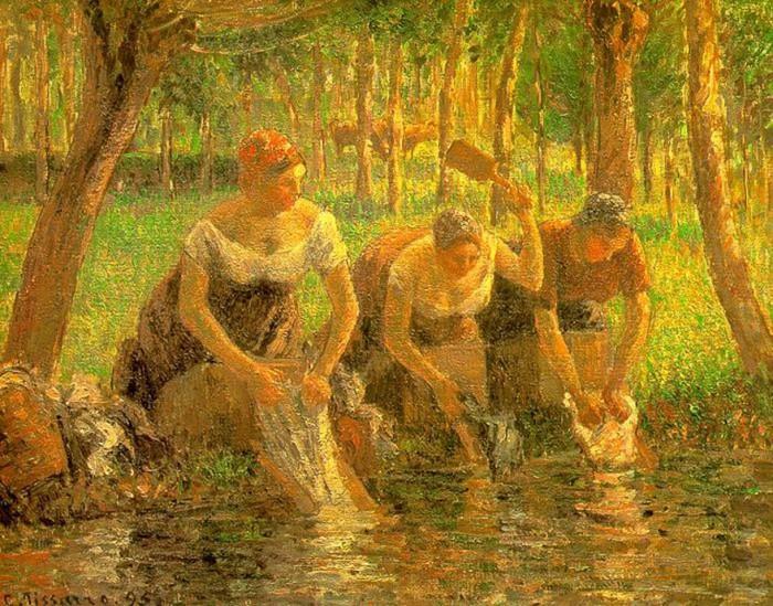 Gume femei.  Eragny-sur-Epte.  1895 (700x549, 171Kb)