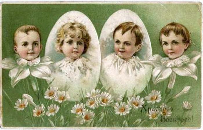 Винтажные открытки к Пасхе сделанные в России 18 (700x447, 83Kb)