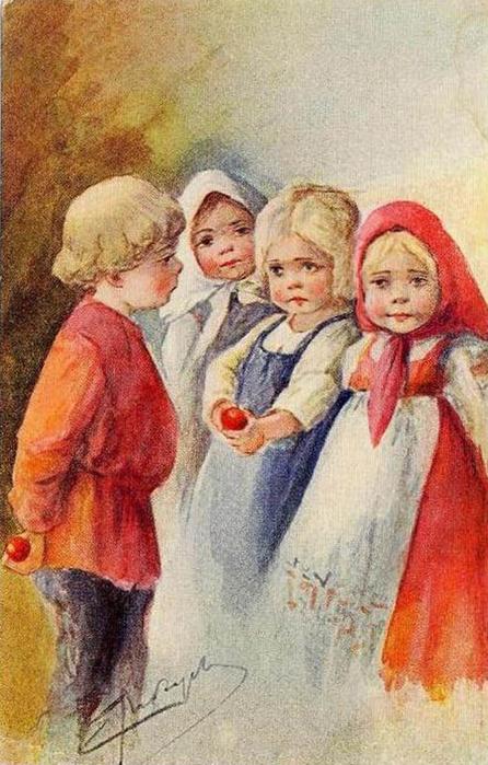 Винтажные открытки к Пасхе сделанные в России 38 (446x700, 379Kb)