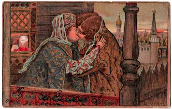 Винтажные открытки к Пасхе сделанные в России 44 (700x444, 121Kb)