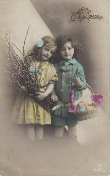 Винтажные открытки к Пасхе сделанные в России 60 (437x700, 223Kb)