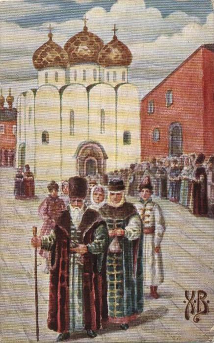 Винтажные открытки к Пасхе сделанные в России 126 (436x700, 65Kb)