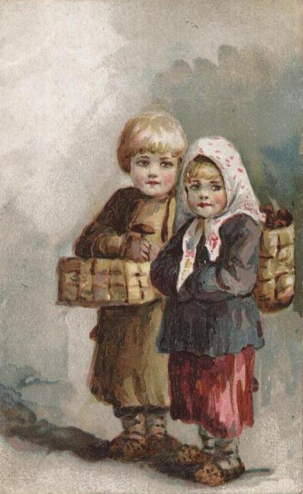 Винтажные открытки к Пасхе сделанные в России 135 (428x700, 47Kb)