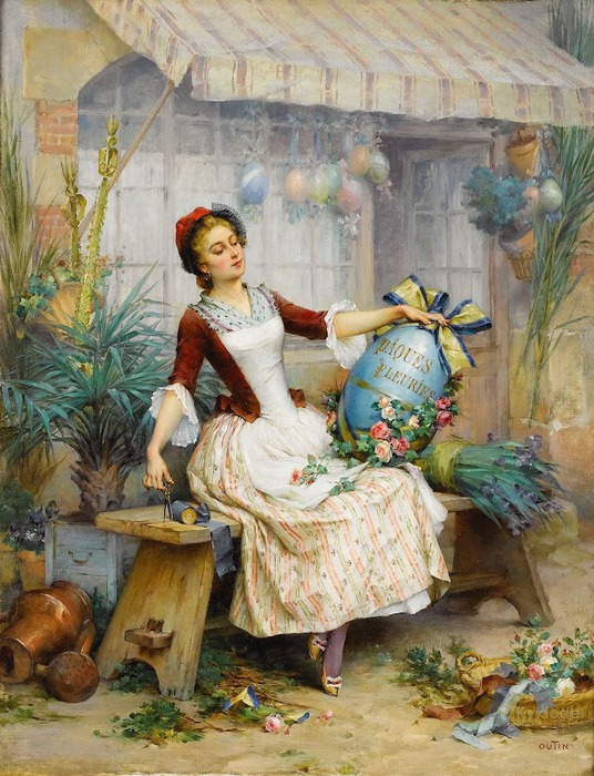 PIERRE_OUTIN_(French_1840-1899)__The_Easter_Eggs_ (536x700, 151Kb)