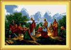 """Комментарии (стр. 1) - Схема вышивки  """"Иисус и ученики """" - Схемы автора  """"Tckaniy """" - Вышивка крестом."""