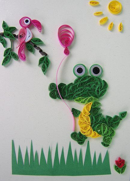 Крокодил Гена.  Ну вот такую открытку сделала вчера на день рождение ребенку.  Енюша.