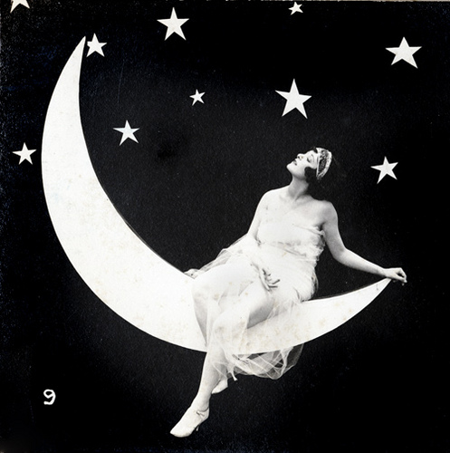 Lady on the Moon - Arcade Stereo Card - c.1920s (497x500, 88Kb)
