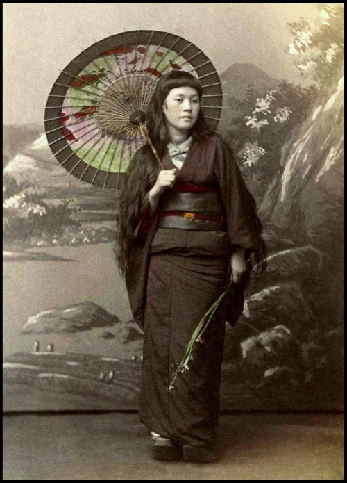 Prostitute from Old Japan, circa 1880s (500x695, 175Kb)