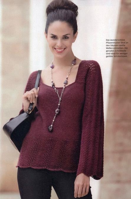 бордовый пуловер (444x677, 224Kb)