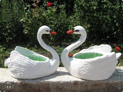 Лебедь на участке своими руками 61