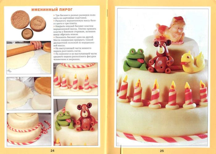 Фигурки для торта из марципана своими руками