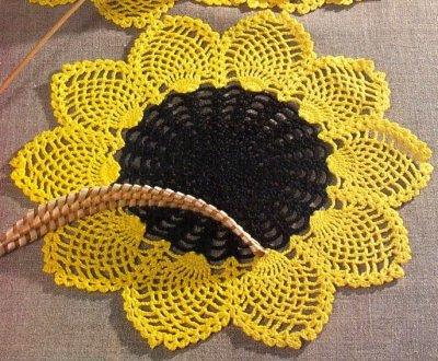Схемя вязания крючком салфеток