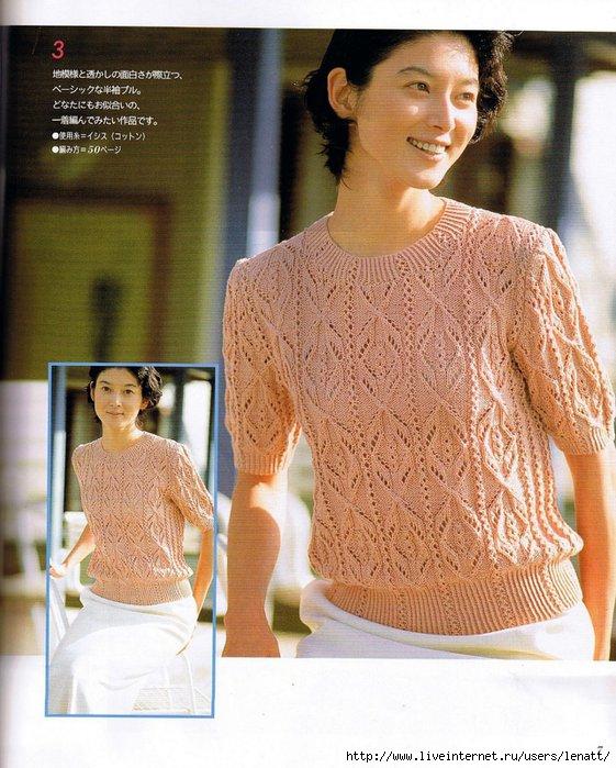 Вязание японского ажура спицами