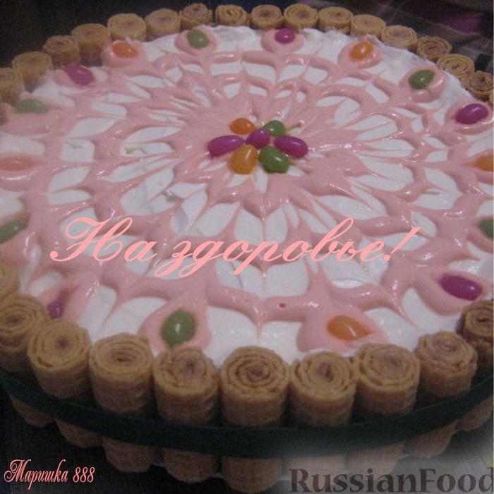 торт з зефіром рецепт з фото